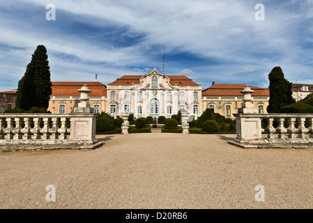 Façade of the ballroom wing, Queluz National Palace (Palacio Nacional de Queluz). Queluz, Portugal - Stock Photo