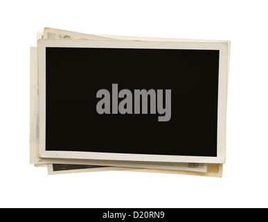 Blank vintage photos isolated on white background - Stock Photo
