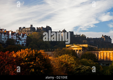 Edinburgh Castle in autumn, Scotland - Stock Photo
