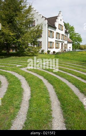 Werd monastery on the island of Werd, Stein am Rhein, Lake Constance, canton of Schaffhausen, Switzerland, Europe - Stock Photo