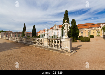 Façade of the ballroom, Queluz National Palace (Palacio Nacional de Queluz). Queluz, Portugal - Stock Photo