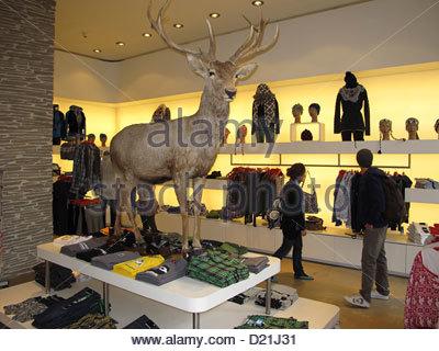 Switzerland Zuerich, Alpenrausch fashion shop - Stock Photo