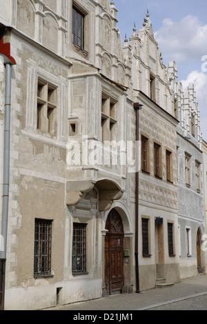 Old architecture building Slavonice, South Bohemia,Czech republic - Stock Photo