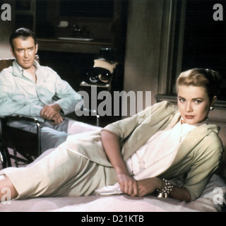 REAR WINDOW 1954 Paramount Pictures film directed by Alfred Hitchcock with James Stewart and Grace Kelly - Stock Photo