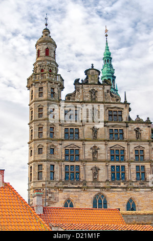 The renaissance Kronberg castle situated in the Danish town of Helsingor. - Stock Photo