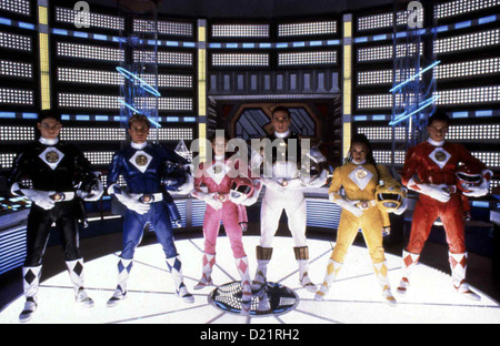 Power Rangers - Der Film  Mighty Morphin Power Rangers - Movie  Johnny Yong Bosch, David Yost, Amy Jo Johnson, Jason - Stock Photo
