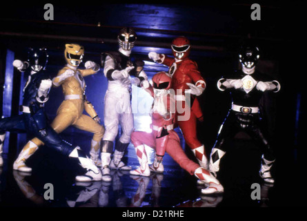 Power Rangers - Der Film  Mighty Morphin Power Rangers - Movie  David Yost, Karan Ashley, Jason David Frank, Amy - Stock Photo