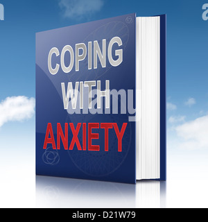 Coping with anxiety concept. - Stock Photo