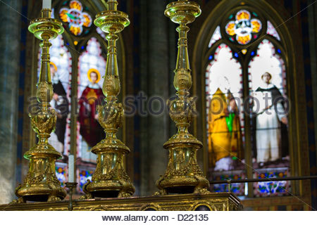 Church interior Santa Maria Sopra Minerva - Stock Photo