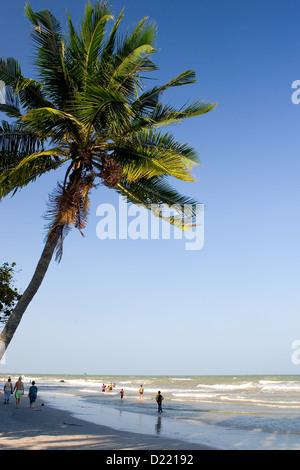 Beach in Hua Hin, Thailand - Stock Photo