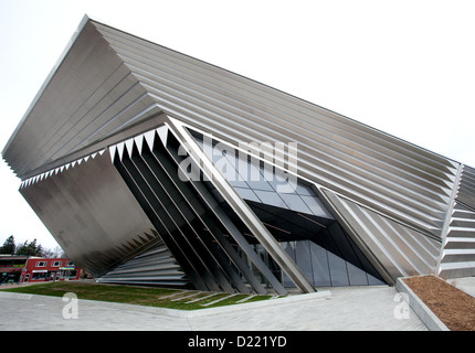 The Eli and Edythe Broad Art Museum at Michigan State University in East Lansing, Michigan, USA. - Stock Photo