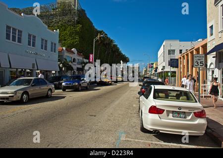 Collins Avenue, Miami Beach District, Miami, Florida, United States - Stock Photo