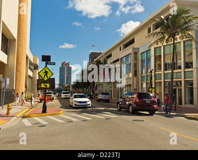 Collins Avenue, Miami Beach District, Miami, Florida, United States - Stock Photo