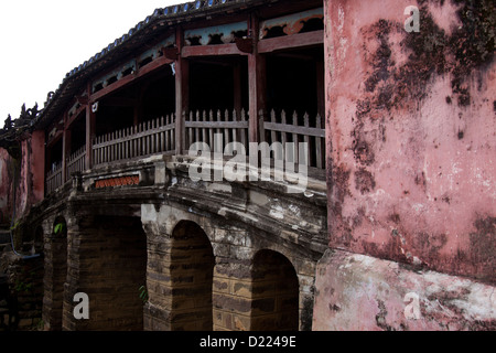 The Japanese Covered Bridge At Hoi An, Vietnam - Stock Photo