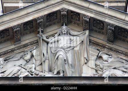 Risen Christ, Saint Etienne du Mont Church, Paris. - Stock Photo