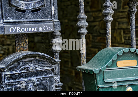 Close up letterbox in Ireland - Stock Photo