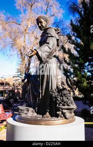 statue of a catholic monk or friar in the courtyard of the. Black Bedroom Furniture Sets. Home Design Ideas