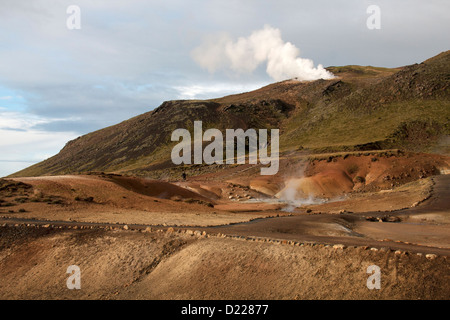 Geothermal area in southern Iceland - Stock Photo