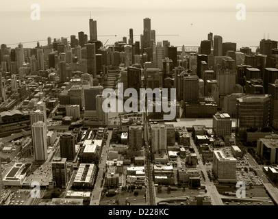 aerial photograph Chicago, Illinois - Stock Photo