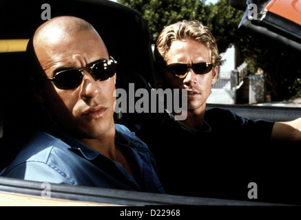 Fast And The Furious, The   --   Paul Walker, Vin Diesel *** Local Caption *** 2001  Universal Pictures International - Stock Photo