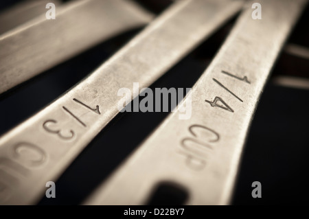 Close-up, selective focus view of measuring cups - Stock Photo