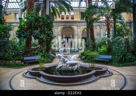 Conservatory in the historical art museum 'Ny Carlsberg Glyptotek' Copenhagen, Denmark, Europe - Stock Photo