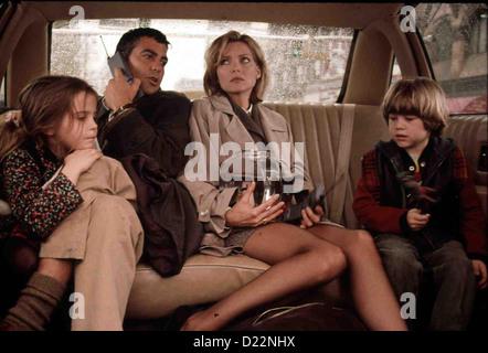Tage Wie Dieser  One Fine Day  Maggie (Mae Whitman, Jack (George Clooney), Melanie (Michelle Pfeiffer), Sammy (Alex - Stock Photo