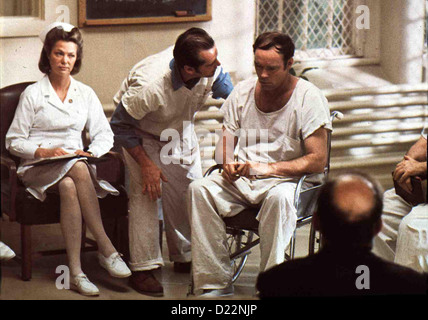 Einer Flog übers Kuckucksnest  One Flew Over Cuckoo's Nest  Louise Fletcher, Jack Nicholson, Ted Markland Oberschwester - Stock Photo