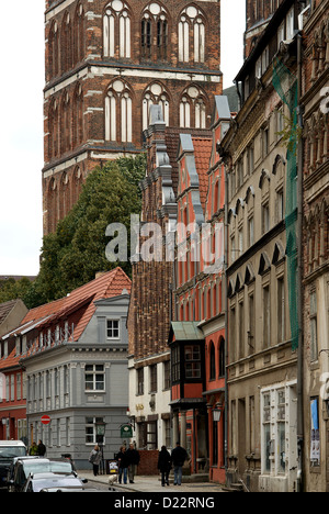 Stralsund, Germany, historic buildings in the Old Town - Stock Photo