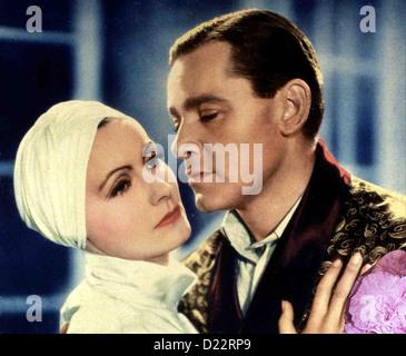Der Bunte Schleier  Painted Veil,  Greta Garbo, Herbert Marshall Dr. Walter Fane (Herbert Marshall) hat als vielbeschäftigter - Stock Photo