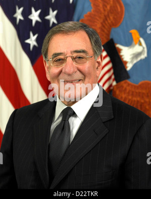 United States Secretary of Defense Leon Panetta - Stock Photo