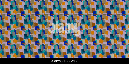 Colorful ceramic 'Mendini 'tiles in the Proust motif covering the outside of the Groninger Museum in Groningen, - Stock Photo