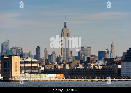Midtown Manhattan Skyline, New York, USA - Stock Photo