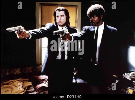 Pulp Fiction  Pulp Fiction  John Travolta, Samuel L. Jackson Die Profikiller Vincent (John Travolta) und Jules (Samuel L.