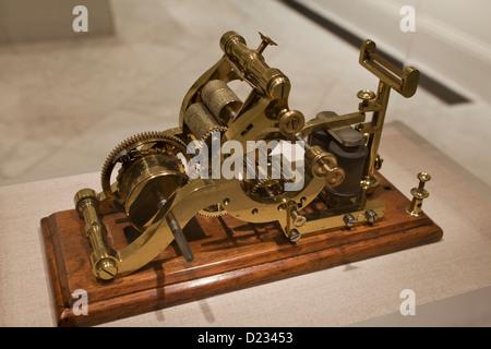 Samuel Morse's automatic telegraph, circa 1837 - USA - Stock Photo