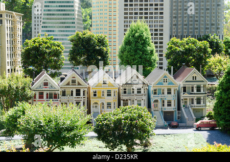 A scene from Miniland San Francisco, Legoland California Resort amusement theme park, San Diego, California, USA - Stock Photo