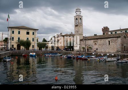 The 12th Century Church of San Nicolo in Lazise at Lake Garda, - Stock Photo