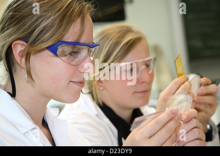Berlin, Germany, trainee biology technician in the laboratory - Stock Photo