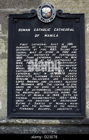 Roman Catholic Cathedral Intramuros Manila - Stock Photo