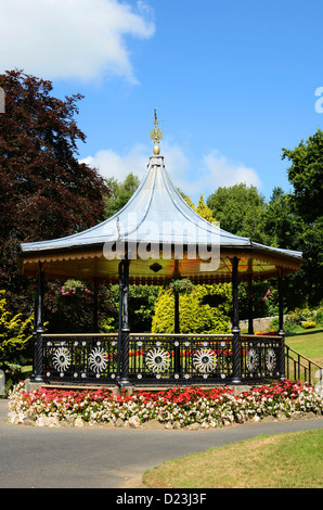 the bandstand in victoria gardens, truro, cornwall, uk - Stock Photo