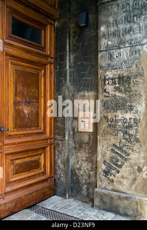 Berlin, Germany, ancient inscriptions on a house - Stock Photo