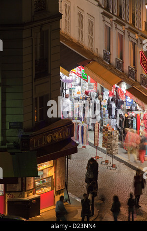 Montmartre at night, Paris - Stock Photo