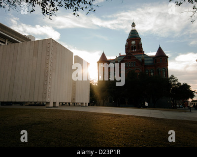 John F. Kennedy Memorial Plaza designed by American architect Phillip Johnson to symbolize the freedom of Pres. - Stock Photo