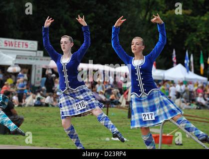 Contestants at Killin Highland Games 2011 - Stock Photo