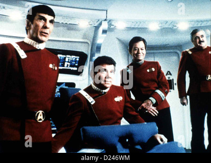 Star Trek Iv - Zurueck In Die Gegenwart  Star Trek Iv: Voyage Home  Leonard Nimoy, William Shatner, DeForest Kelly, - Stock Photo