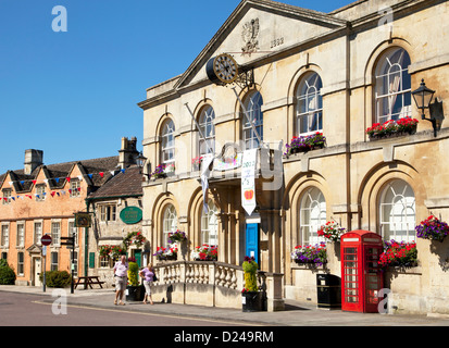 The town hall in Corsham in Wiltshire, England. - Stock Photo