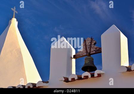 Portugal, Algarve: Detial of medieval chapel Nossa Senhora da Rocha - Stock Photo