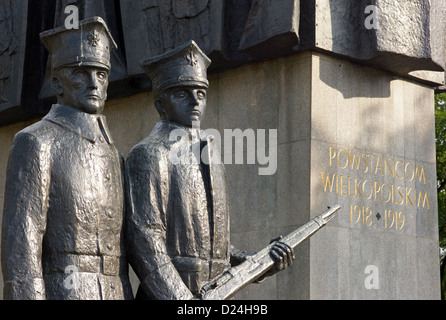 Poznan, Poland, detail of the monument for the United Polish insurgents - Stock Photo