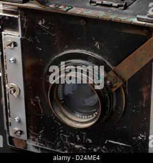 Old Van Neck plate camera,close-up - Stock Photo