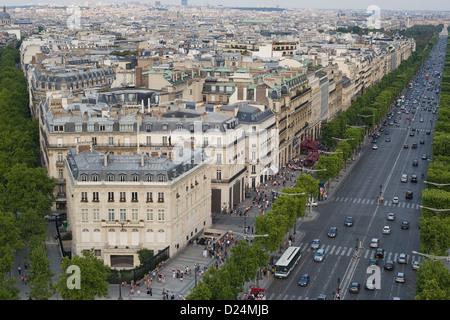 Paris, France, Cityscape with the Avenue des Champs-Elysees